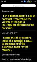 Screenshot of Physics Terms