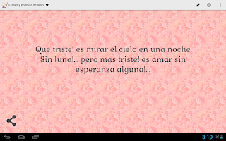 Screenshot of Frases y Poemas de Amor