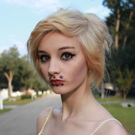 Seen Not Heard by Shelby Harrison - People Body Art/Tattoos ( make up, girl, alternative fashion, close up, halloween )