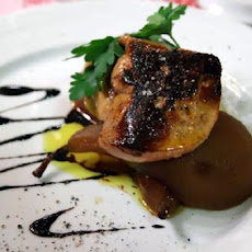 Sauteed Foie Gras with Ginger Poached Pears and Pinot Noir Jus
