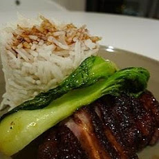 Pan Fried Duck Breast With Honey Soy Sauce and Pak Choi