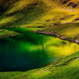 Bachalpsee by Arne Wuensche - Landscapes Waterscapes ( swiss, mountains, bachalpsee, switzerland, lake, landscape )