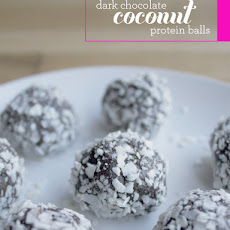 Dark Chocolate Coconut Protein Balls