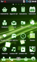 Screenshot of Android Green led Theme