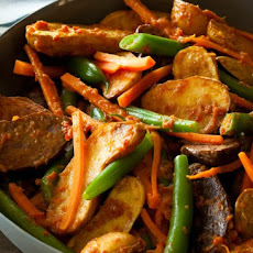 New Potato Rendang & Green Beans Recipe