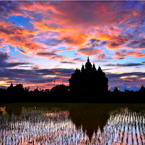 Sunset @Plaosan Temple by Tom'z Stone - Landscapes Sunsets & Sunrises