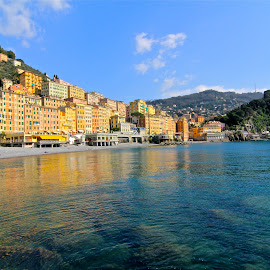 by Felice Bellini - City,  Street & Park  Neighborhoods ( italia, camogli, italy )