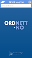 Screenshot of Ordnett - Engelsk stor ordbok