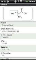 Screenshot of Amino Acid Reference