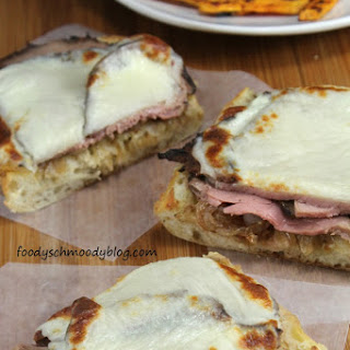 Open Faced Roast Beef Melts