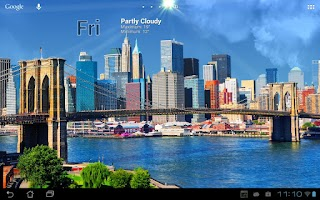Screenshot of True Weather, Cities