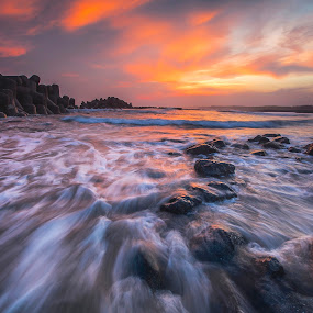 Reds Junction  by Bertoni Siswanto - Landscapes Waterscapes ( japan, sunset, hamamatsu beach, landscape photography, beach, waterscapes,  )