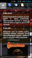 Screenshot of Pizzeria Copacabana Ristorante