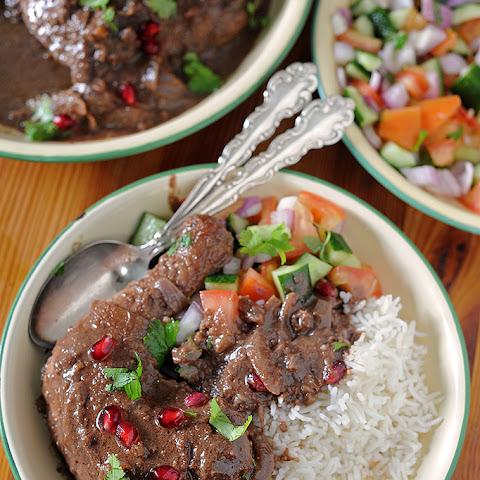 Persian Chicken or Duck in Pomegranate Walnut Sauce (Fesenjan) Recipe ...