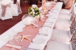 Tablesetting at the reception