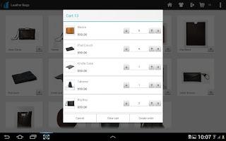 Screenshot of Onsight Mobile Sales App