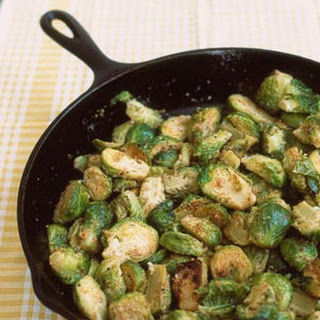 Sauteed Brussels Sprouts with Bread Crumbs