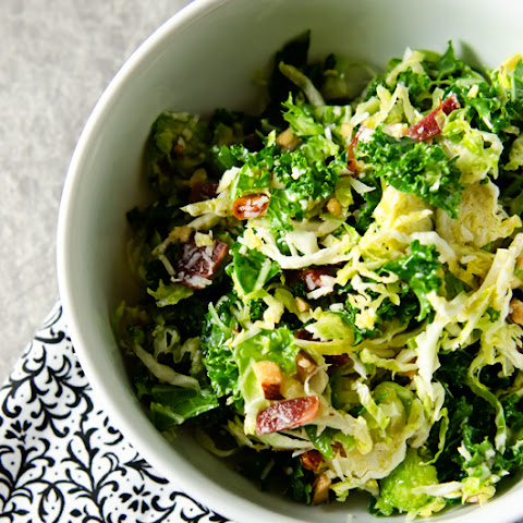 Kale and Brussels Sprouts Salad w/ Bacon and Pecorino
