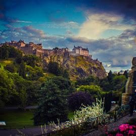 Edinburgh Castle from Princes Street Gardens by Lyndsay Hepburn - Buildings & Architecture Public & Historical ( edinburghcastlefromprincesstreet, castleonoldvolcano, edinburgholdtown, castleview, edinburghcastle )