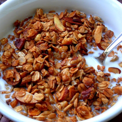 Homemade Nutty Vanilla Granola
