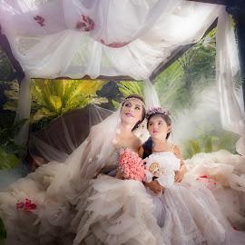 by Don Davies - Wedding Bride ( wedding, bride, flower, portrait )