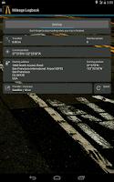 Screenshot of Mileage Logbook