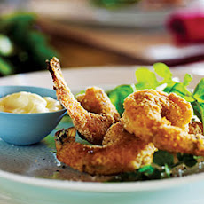 Crispy Shrimp with Arugula and Lemony Mayo