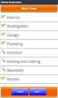 Screenshot of Home Inspection Checklist