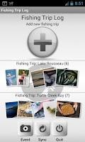 Screenshot of Fishing Trip Log