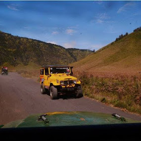 yellow jeep.. transportation to Bromo Mountain by Dwi Ratna Miranti - Transportation Motorcycles