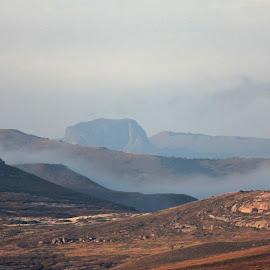 Mountain Mist by Dirk Luus - Landscapes Mountains & Hills ( clouds, mountain, weather, landscape, mist )