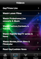 Screenshot of GayTVone