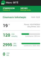 Screenshot of Mano BITĖ