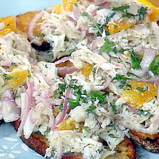 Crab Salad with Orange and Oregano on Grilled Sourdough