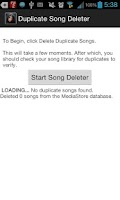 Screenshot of Duplicate Song Deleter
