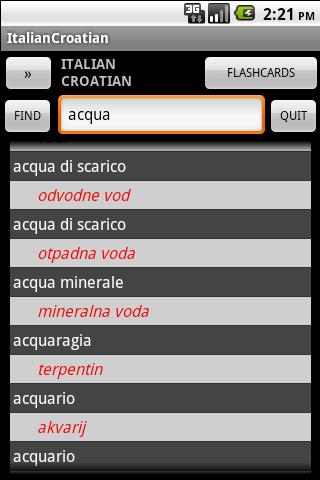 Croatian Italian Dictionary