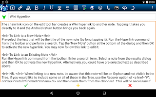 Screenshot of NoteLynX Outliner