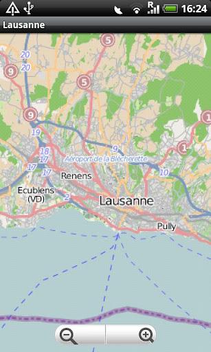 Lausanne Street Map