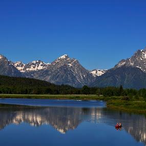 jackson lake by Vijay Govender - Landscapes Mountains & Hills ( jackson lake, wyoming, lakes, landscape,  )