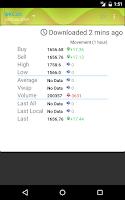 Screenshot of Bitcoin Ticker Widget