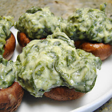 Spinach & Cheese Stuffed Portabella Mushroom Caps (3 Ww Poin
