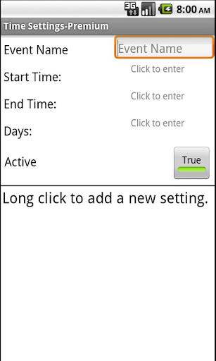 Time Settings-Premium