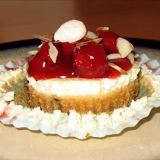 Cherry-Almond Cheesecake Cookie Cups