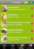 Screenshot of AOK glutenfreie Rezepte