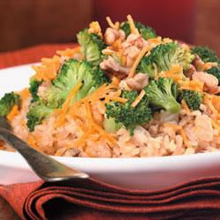 Brown Rice, Broccoli, Cheese and Walnut Surprise