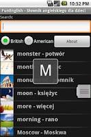 Screenshot of Słownik angielski dla dzieci