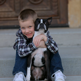 A boy and his best friend by Beth Milam - Babies & Children Child Portraits