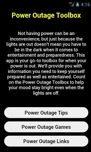 Power Outage Toolbox Games