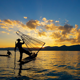 Fisher men at inle lake-Myanmar by Jason Chor - Landscapes Sunsets & Sunrises