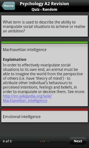 Psychology A2 Self-Assessment